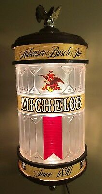 Vintage Michelob Beer Sign Lighted Sconce Wall Lamp
