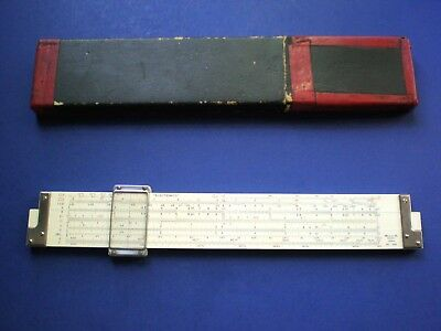 Hemmi No. 266 'Electronics' Slide Rule. Duplex. Bamboo. 27 Scales. Excellent.