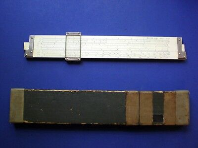 Hemmi No. 257 Chemistry Slide Rule. Duplex. Bamboo. 23 Scales. Excellent.
