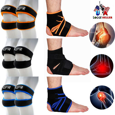 CFR Adjustable Ankle/Knee Strap Band Brace Patella Support Relief Sports Pain