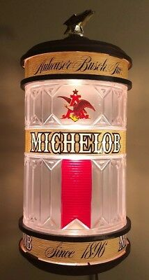 Vintage Michelob Beer Sign Lighted Wall Sconce Lamp As Is