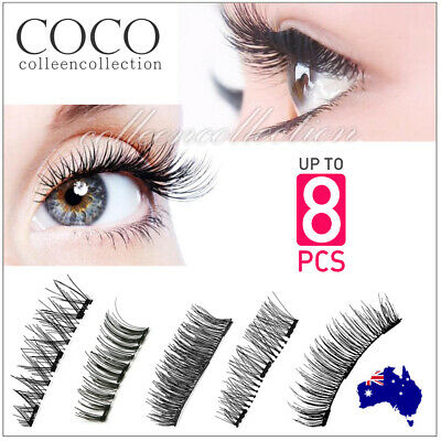 3D Triple Magnetic Eyelashes Handmade Natural Extension False Magnet Eye Lashes