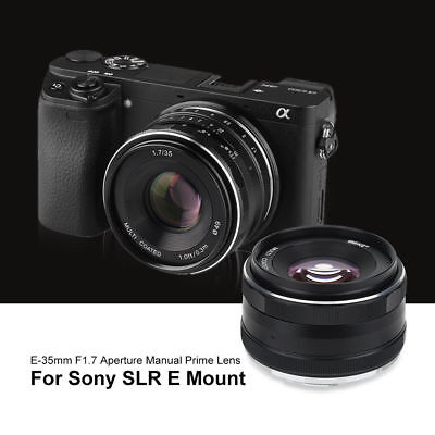 Meike 35mm f/1.7 APS-C Large Aperture Manual Focus Fixed Lens for Sony Cameras L