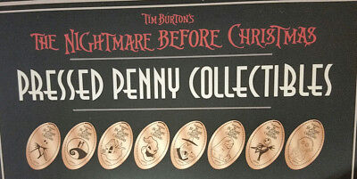 Disney World Pressed Smashed Elongated Penny Nightmare Before Christmas 8 pc P71