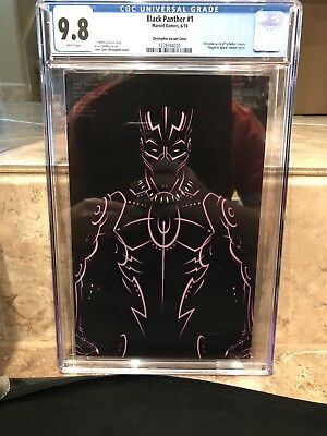 Black Panther #1 Christopher Negative Space Variant CGC 9.8