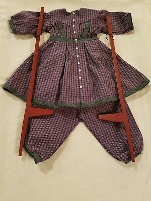 Pleasant Company American Girl Addy Stilting Outfit with Stilts-Mint