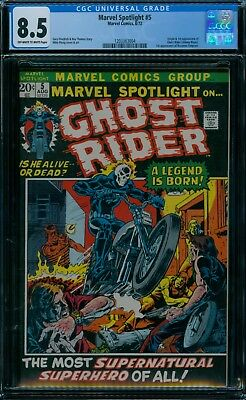 Marvel Spotlight 5 CGC 8.5  1st Ghost Rider ow/w pages!