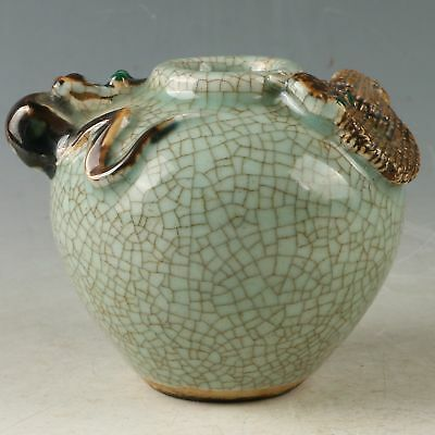 Chinese Exquisite Porcelain Handwork Carved Snake & Mouse Pot CC1187