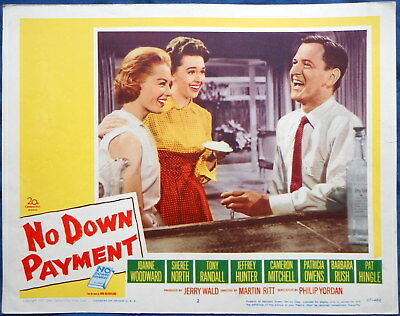 NO DOWN PAYMENT MOVIE POSTER Sheree North Tony Randall lc #2