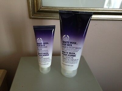 The Body Shop White Musk for Men Hair & Body Wash & After Shave Balm