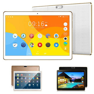 10.1'' Tablet PC 4+64GB Android 6.0 Octa Core 3G Dual SIM Camera WIFI Phablet