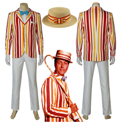Mary Poppins Bert Cosplay Costume Male Uniform