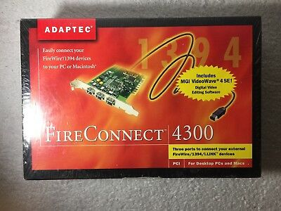 ADAPTEC FIRECONNECT 4300 WINDOWS 10 DRIVERS