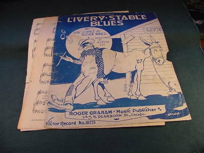 1917 Livery Stable Blues by Marvin Lee Black Americana Cover Sheet Music