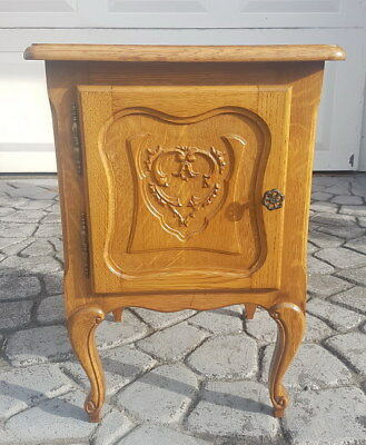 Rare Carved French Antique Bedside Table Cupboard Cabinet Louise XVI