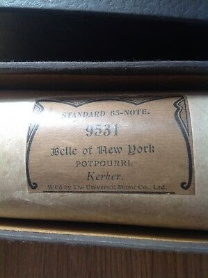 Belle of New York - Pianola roll