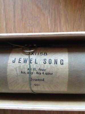 Gounod - Jewel song  - Pianola roll