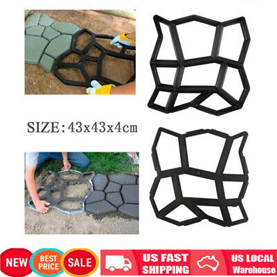 Plastic Pathmate Stone Paving Mold Concrete Stepping Walk Way Mould Paver 10Grid
