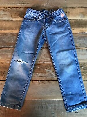 Osh Kosh Funky Jeans With Knee Rip - Size 4-5