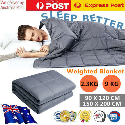 2.3KG / 9KG Weighted Blanket Gravity Heavy Sensory Cotton Relax Calming Quilt AU