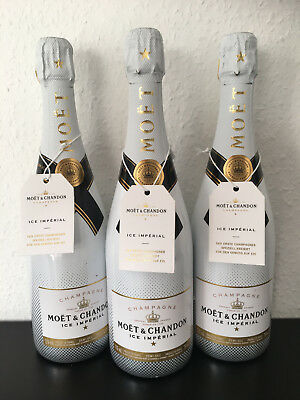 3 Flaschen Moet & Chandon ICE Imperial 0,75l Champagner