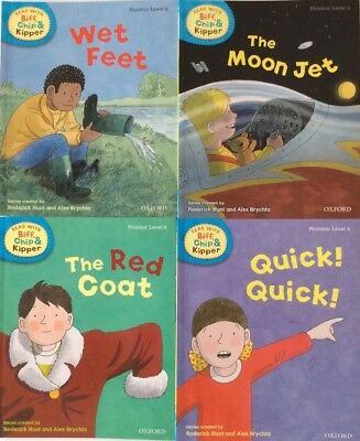 OXFORD READING TREE Biff, Chip and Kipper Level 4 Phonics Collection 4 books NEW