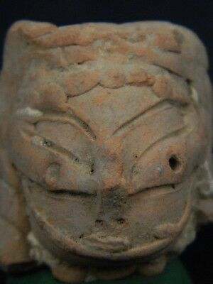 Ancient Teracotta Mother Goddess Head Indus Valley 600 BC #TR555