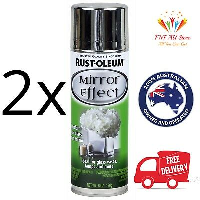 2x Rust-Oleum Specialty Mirror Effect Spray Paint 170g. Aus Stock