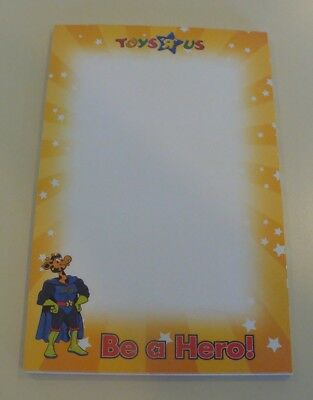 """VERY RARE Toys R Us Geoffrey """"Be A Hero"""" notepad..managers meeting gift..LOOK.."""