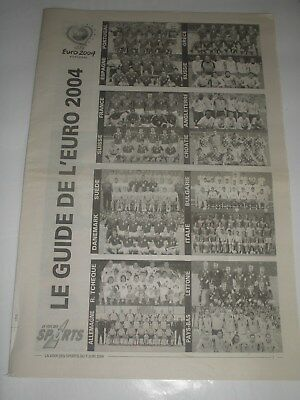 football futbal guide EURO 2004 PORTUGAL + POSTER EQUIPE DE FRANCE