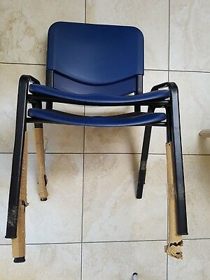 ISO Poly Stacking Chair BLUE