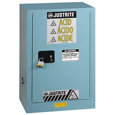 Justrite 12 Gal. Acid Corrosive Cabinet w/Painted Bottom,