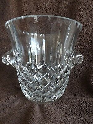 Stunning Crystal Cut Glass Very Heavy Champagne Ice Bucket