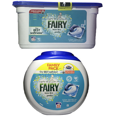 Fairy Non-Bio Pods Laundry Detergent Washing Capsule Sensitive Skin Washes