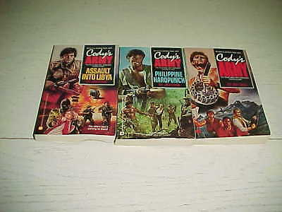 Lot 3 Book Cody's Army Military Action CIA War Jim Case Anti Terrorist Softcover