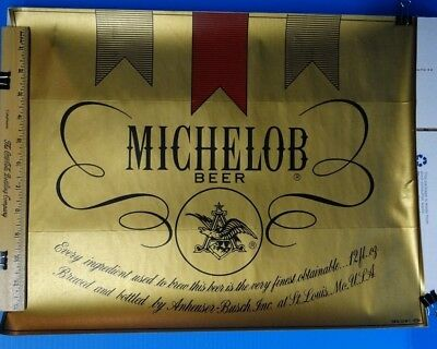 "MICHELOB BEER DECAL/STICKER # 352-104-72 14""x18"" MAN CAVE SPECIAL!!!"