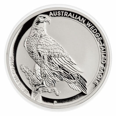 2016 1 oz .999 Fine Silver Australian Wedge Tailed Eagle - in Capsule - BU