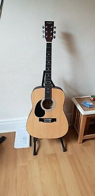 Left Handed Martin Smith Acoustic Guitar W 100 Full Size Natural