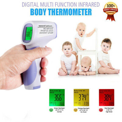 Body Skin Digital LCD Non-contact Infrared IR Thermometer For Baby Kids Adult BT