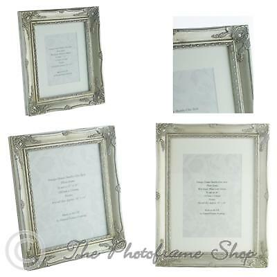 Antique Silver Shabby Chic Vintage Picture Frame Single Mount 7x5 - 16x12 inch