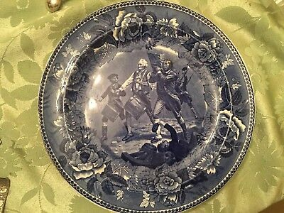 "1899 Wedgwood English BLUE  ""Spirit Of 76""10""  PLATE"