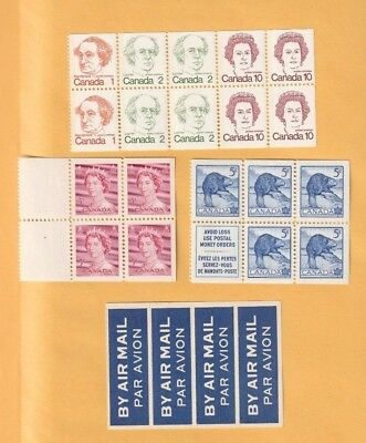 Canada - Lot Of 4 Mint From Booklets Stamps.