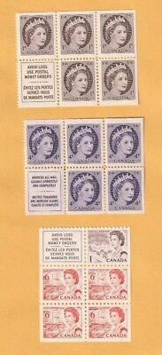 Canada - Lot Of 3 Mint From Booklets Stamps.