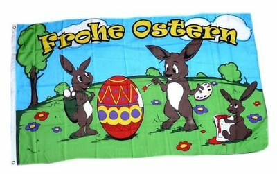 Flagge Fahne Frohe Ostern Hasen Ei 90 x 150 cm