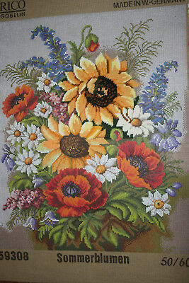 Vintage Part Worked Large Rico Gobelin Tapestry/Woolwork Canvas.