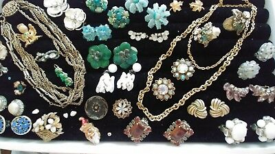 """Lot of 29 20""""s - 50's Vintage Antique Wearable and Repairable Jewelry - A1"""