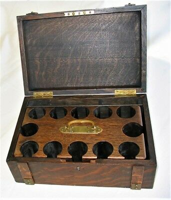 Antique Wooden Poker Chip Box - 1901, Edwardian era - removable Wooden Chip Rack