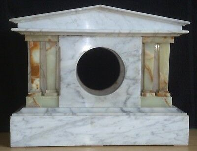 White Marble Clock Case for Repair or Parts
