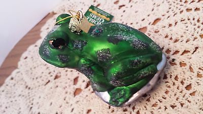 Kurt Adler Polonaise Christmas Ornament Lily Pad Frog  Poland w tag Noble Gem