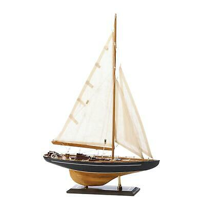 Bermuda Tall Ship Model Nautical Wood Decor Sailing Canvas Sailboat Collectible